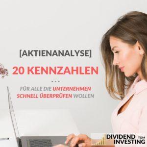 [Aktienanalyse] 20 Kennzahlen, ein Unternehmen schnell zu überprüfen