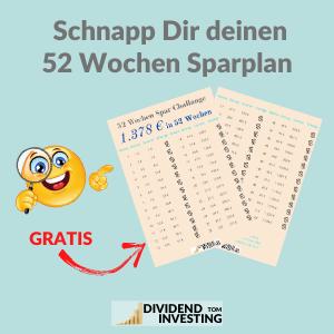 Schnapp Dir deinen GRATIS 52 Wochen Sparplan