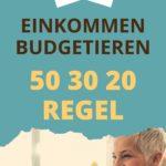 50-30-20 Regel Budgetplan
